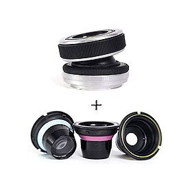 Lensbaby Composer Tilt & Focus Ball & Socket type Selective Focus Lens kit. for Nikon F Mount SLR's - with Lensbaby Optic Box Set Bundle for Composer, Muse, & Control Freak