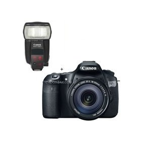 Canon EOS 60D Digital SLR Camera / Lens Kit. With EF 18-135mm f/3.5-5.6 IS USM Lens & Speedlite 580EX II
