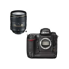 Nikon D3X Digital SLR 24.5 Megapixel Camera with Nikon Nikon 24-120mm f/4G ED-IF AF-S VR VR II (Vibration Reduction) Lens - U.S.A. Warranty.