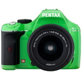 Pentax K-x - Digital camera - SLR - 12.4 Mpix - PENTAX-DA L 18-55mm AL lens - optical zoom: 3 x - supported memory: SD, SDHC - green