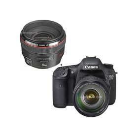 Canon EOS-7D Digital SLR Camera / Lens Kit with EF 28-135mm f/3.5-5.6 IS USM Standard Zoom Lens and EF 50mm f/1.2L USM Lens