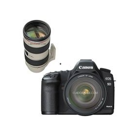 Canon EOS-5D Mark II Digital SLR Camera Body Kit with EF 24-105L IS & EF 70-200mm f/2.8L IS II USM