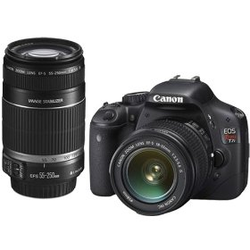 Canon EOS Rebel T2i 18 MP CMOS APS-C Digital SLR Camera with EF-S 18-55mm f/3.5-5.6 IS Lens & EF-S 55-250mm f/4.0-5.6 IS Telephoto Zoom Lens