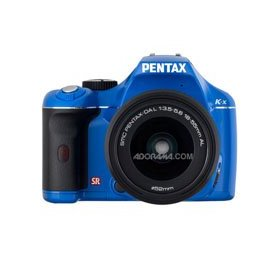 Pentax K-x - Digital camera - SLR - 12.4 Mpix - PENTAX-DA L 18-55mm AL lens - optical zoom: 3 x - supported memory: SD, SDHC - blue
