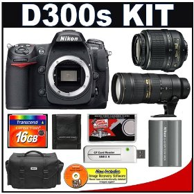 Nikon D300s Digital SLR Camera + 18-55mm AF-S VR Lens + 70-200mm f/2.8G II VR + 16GB Card + Nikon EN-EL3e Battery + Case + Cameta Bonus Accessory Kit