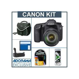Canon EOS-7D Digital SLR Camera / Lens Kit with EF 28-135mm f/3.5-5.6 IS USM Standard Zoom Lens, 8GB CF Memory Card, Spare LP-E6 Type Battery, Slinger Camera Bag, Flashpoint Professional Battery Grip, Visible Dust EZ Sensor Cleaning Kit
