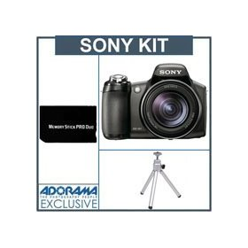 Sony Cyber-shot DSC-HX1 High Zoom Digital Camera kit - Black - with 4GB Memory Stick, Table Top Tripod
