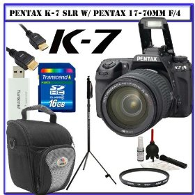 Pentax K-7 14.6 MP Digital SLR with Shake Reduction and 720p HD Video (OutFit) w/ Pentax 17-70mm f/4 DA SMC AL IF SDM Lens + Willoughby's 16GB SDHC KIT#2