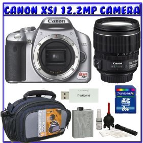 Canon EOS Rebel XSi (a.k.a. 450D) SLR Digital Camera Kit (Silver) w/ Canon EF-S 17-85mm f/4-5.6 IS USM SLR Lens + 8GB + Digital SLR Gadget Bag