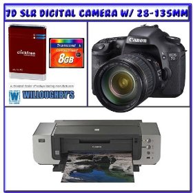 Canon EOS 7D SLR Digital Camera w/ 28-135mm IS USM Lens + Canon PIXMA Pro9000 Mark II Inkjet Printer + Snap Store and Print EOS and Pixma Bundle Offer