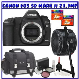 Canon EOS 5D Mark II 21.1MP Digital SLR (Body Only) + Canon EF 50mm f1.4 USM Lens + 8GB + Digital Photo Professional K#1
