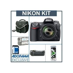 Nikon D300S DX Digital SLR Camera/ Lens Kit, w/New 18-200mm DX VR II Zoom Lens, USA Warranty, 8GB SD Memory Card, Pro Verical Grip / Battrey Holder. Spare EN- EL3e Lithium-Ion Battery, Slinger Camera Bag, Visible Dust EZ Sensor Cleaning Kit