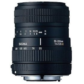 Sigma 55-200mm f/4-5.6 DC Telephoto Zoom Lens for Nikon Digital SLR Cameras