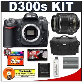 Nikon D300s Digital SLR Camera + 18-55mm VR Zoom Lens + 16GB Card + EN-EL3e Battery + Case + Cameta Bonus Accessory Kit