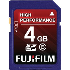 Fujifilm 4 GB Class 6 SDHC Flash Memory Card
