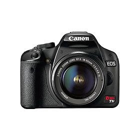 Canon EOS Rebel T1i EF-S Digital SLR Camera - Black - with 18-55mm Lens - Refurbished