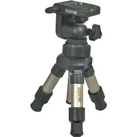 Sunpak MINI-PLUS Mini Tripod with 3-Way Panhead