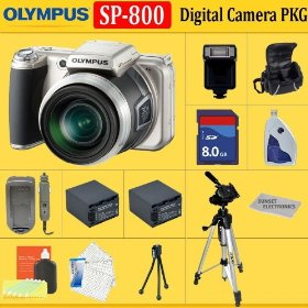 Olympus SP-800UZ Digital Camera(Includes manufacturer's supplied accessories) + HUGE ACCESSORIES PACKAGE INCLUDING + 8GB SDHC MEMORY CARD + 2x EXTENDED LIFE BATTERIES + SOFT CARRYING CASE + TRIPOD & MUCH MORE !!