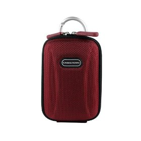 CaseCrown Compact Travel Carrying Case (Crimson) for the Nikon Coolpix L22 12.1MP Digital Camera with 3.6x Optical Zoom and 3.0-Inch LCD