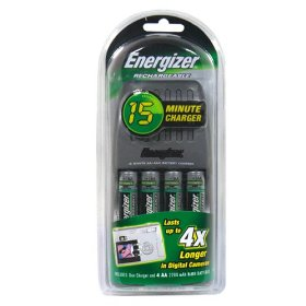 Energizer Rechargeable 15 Minute Charger