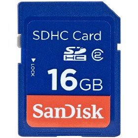 SanDisk 16 GB Class 2 SDHC Flash Memory Card SDSDB-016G-A11