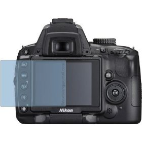 2x Pre-cut to fit Nikon D5000 D5000DX Premium Clear LCD Screen Protector, no cutting is required!