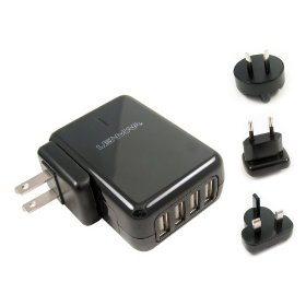 Lenmar ACUSB4 AC Travel Adapter for up to 4 USB Powered Devices (Black)