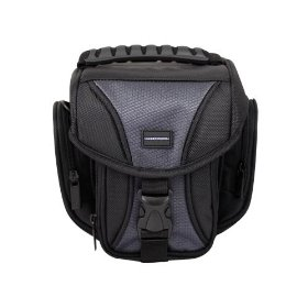 CaseCrown Rugged Easy Carry DSLR Case and Shoulder Sling Bag for the Canon Rebel XS 10.1MP Digital SLR Camera with EF-S 18-55mm f/3.5-5.6 IS Lens (Black)
