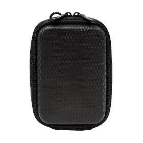 CaseCrown Hard Cover Foam Padded Camera Case (Black) for the Canon PowerShot SD1400IS 14.1 MP Digital Camera