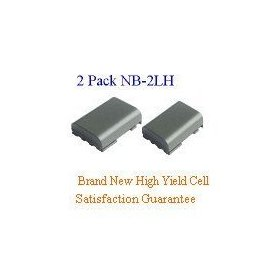 2-Pack Canon NB-2LH Brand New Equivalent 7.2V 1100mAh Lithium-Ion Camera/Camcorder Battery, Long Lasting cell. It meets or exceeds OEM specifications!