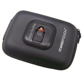 Maximal Power POU-ST-071 Medium StandPouch Nylon Hard Shell Digital Camera Case (Black)