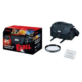 Canon Digital Rebel Kit with Case, 58mm UV Filter and LP-E5 Li-ion Battery for Canon XS, XSi and T1i Digital SLR Cameras