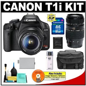 Canon 3818B002 EOS Rebel T1i 15.1MP Digital SLR Camera (Black)