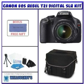 Canon Rebel T2i 18.0 MP Digital SLR w/ Canon 18-55mm IS Lens + Shooter Package K# 1