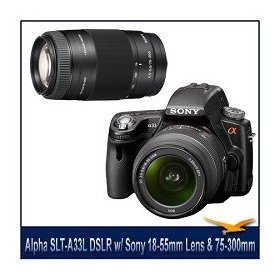 Sony Alpha DSLR-SLT-A33 Digital Camera, 14.2MP, 3