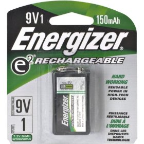 Energizer NH22BP ACCU 9-Volt Rechargeable Battery