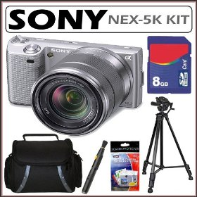 Sony DSLR NEX-5K 14.2MPHD DSLR Digital Camera + 8GB Accessory Kit