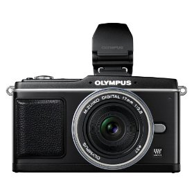 Olympus PEN E-P2 12.3 MP Micro Four Thirds Interchangeable Lens Digital Camera with 17mm f/2.8 Lens and Electronic View Finder