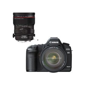Canon EOS-5D Mark II Digital SLR Camera Body Kit with EF 24-105L IS & Canon TS-E 24mm f/3.5L II Tilt-Shift Lens
