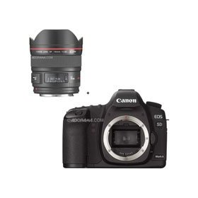 Canon EOS-5D Mark II Digital SLR Camera Body with EF 14mm f/2.8L II USM Wide Angle Lens