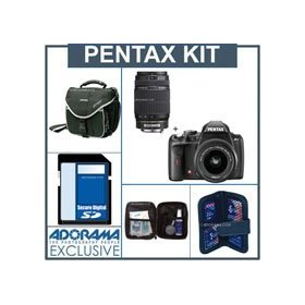 Pentax K-r Digital SLR Camera Kit, Black, with 18-55mm and 55-300mm Zoom Lenses,4GB SD Memory Card, Camera Bag, Professional Lens Cleaning Kit, Digital Memory Case