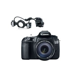 Canon EOS 60D Digital SLR Camera / Lens Kit. With EF 18-135mm f/3.5-5.6 IS USM Lens & MT-24EX, Macro Twin Lite Flash Unit
