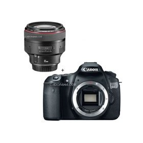 Canon EOS 60D Digital SLR Camera Body, with Canon EF 85mm f/1.2L II USM AutoFocus Telephoto Lens