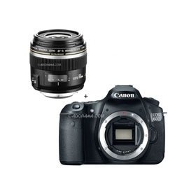 Canon EOS 60D Digital SLR Camera Body, with EF-S 60mm f/2.8 Compact Macro AutoFocus Lens