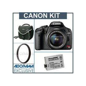 Canon EOS Rebel T1i EF-S Digital SLR Camera/ Lens Kit Black with 18-55mm Lens., Spare LP-E5 Lithium-Ion Rechargeable Battery, Slinger Camera Bag, Pro Optic Pro Digital 58mm Multi Coated UV Ultra Violet Filter
