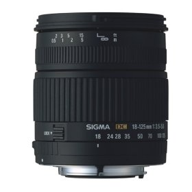 Sigma 18-125mm f/3.5-5.6 DC IF Aspherical Zoom Lens for Minolta and Sony Digital SLR Cameras
