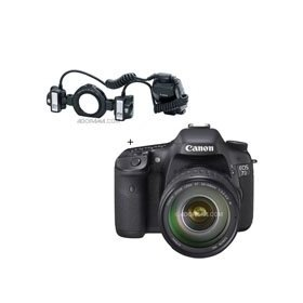 Canon EOS-7D Digital SLR Camera / Lens Kit with EF 28-135mm f/3.5-5.6 IS USM Standard Zoom Lens and Canon MT-24EX, Macro Twin Lite Flash Unit