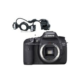 Canon EOS-7D Digital SLR Camera with Canon MT-24EX, Macro Twin Lite Flash Unit