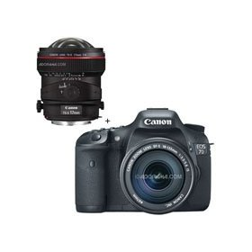 Canon EOS-7D Digital SLR Camera / Lens Kit, with Canon EF-S 18-135mm f/3.5-5.6 IS Auto Focus Lens, and Canon TS-E 17mm f/4L Tilt-Shift Manual Focusing Lens