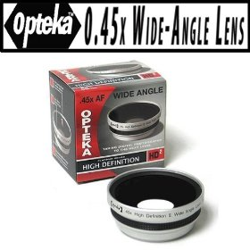 Opteka .45x HD� Wide Angle Lens for Panasonic Lumix DMC-FZ100 Digital Camera